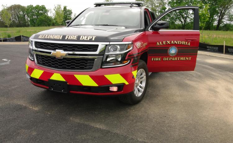 Alexandria Fire Department Tahoe